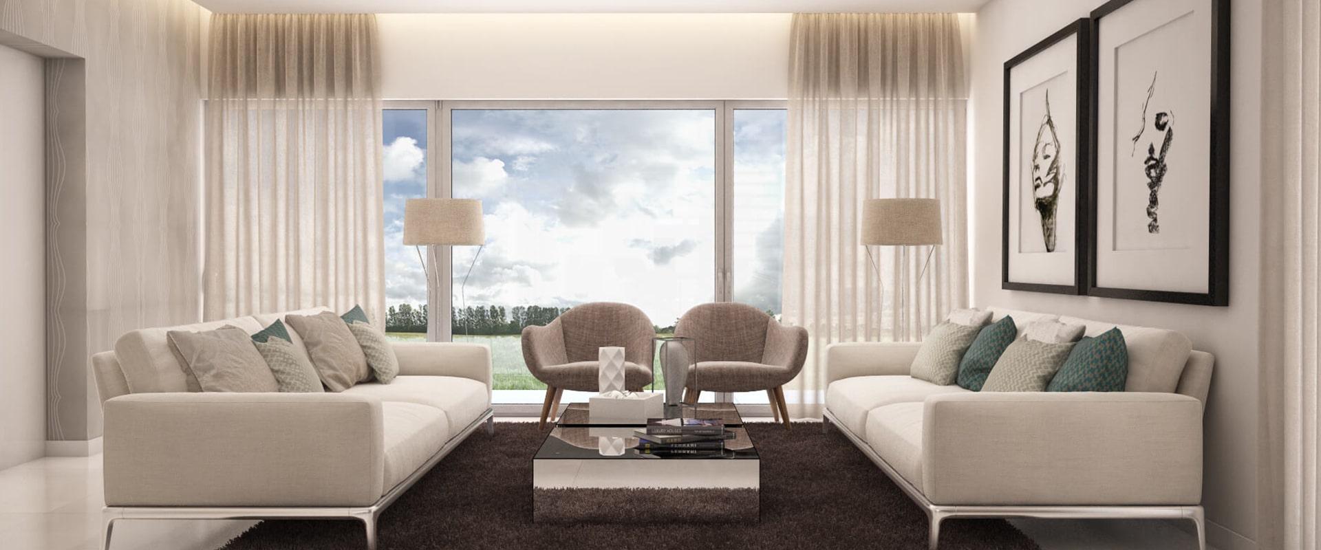 Sala estilo contemporâneo