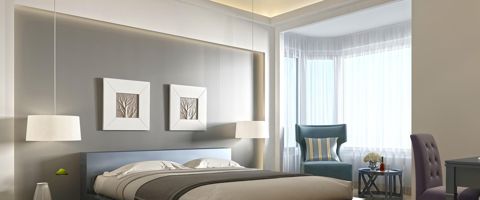 Iluminação em quarto