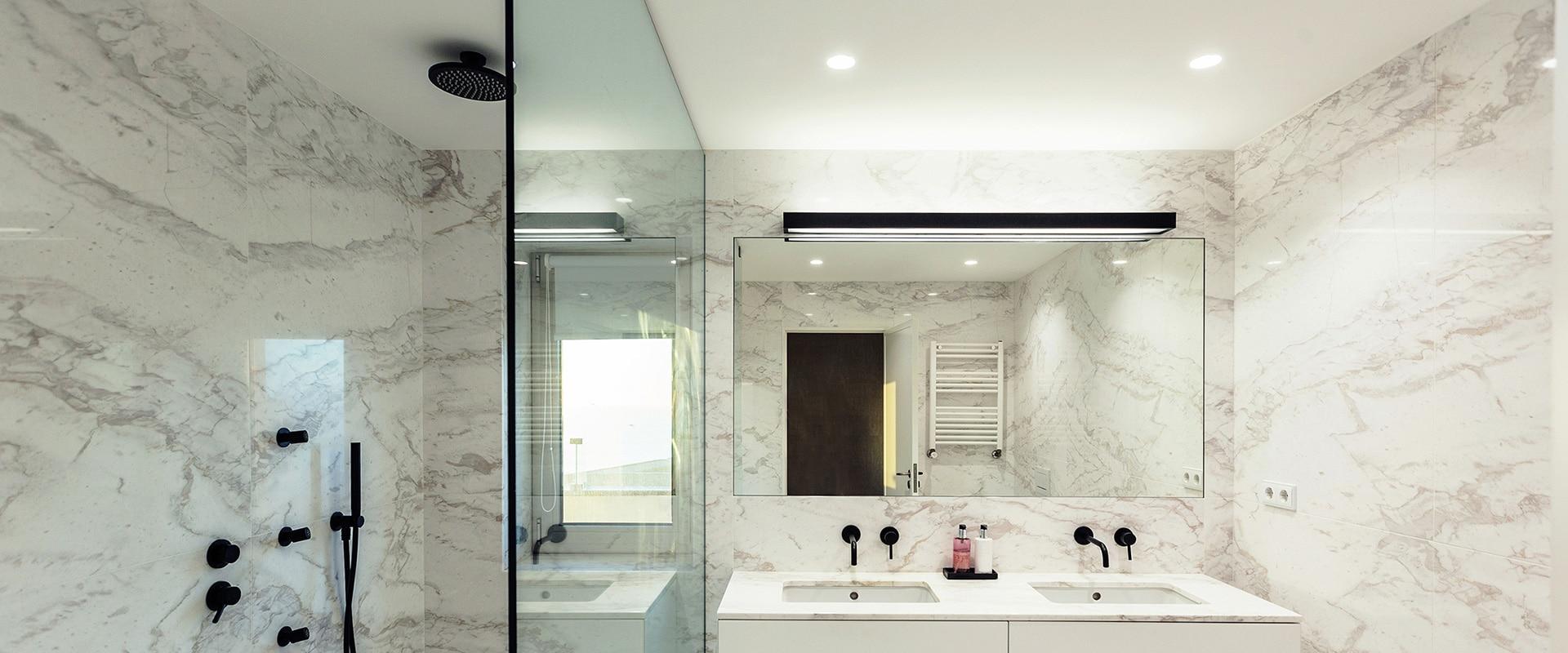 Iluminação casa de banho
