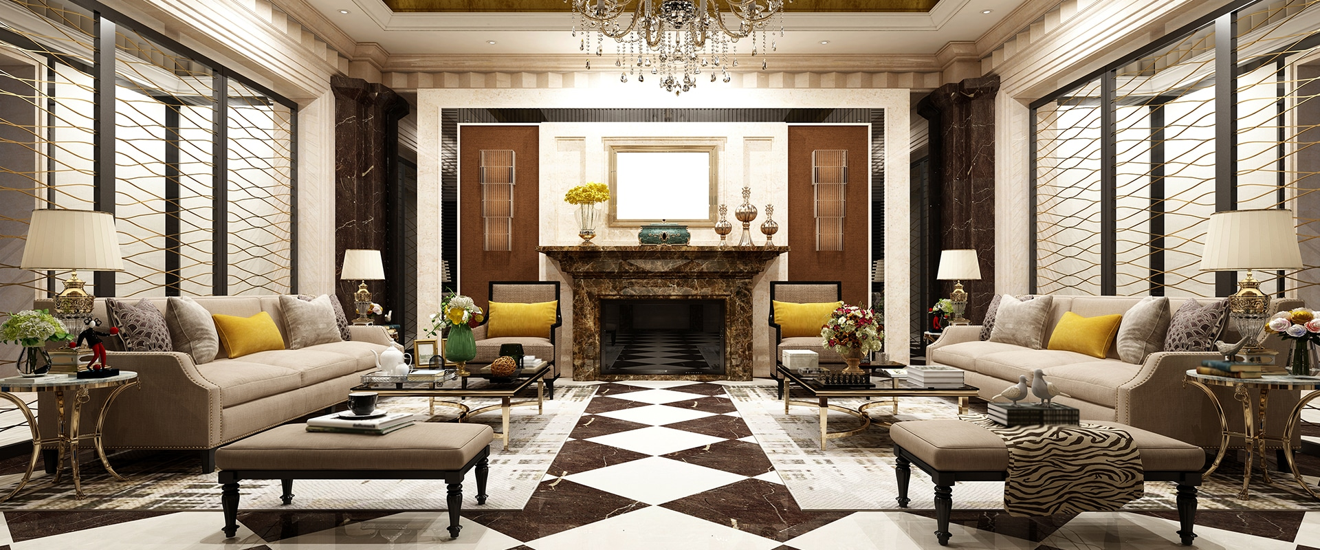Mobiliário robusto, ornamentado e de tom mais escuro, linhas curvas e tecidos vistosos, conheça estas e outras características do estilo clássico.