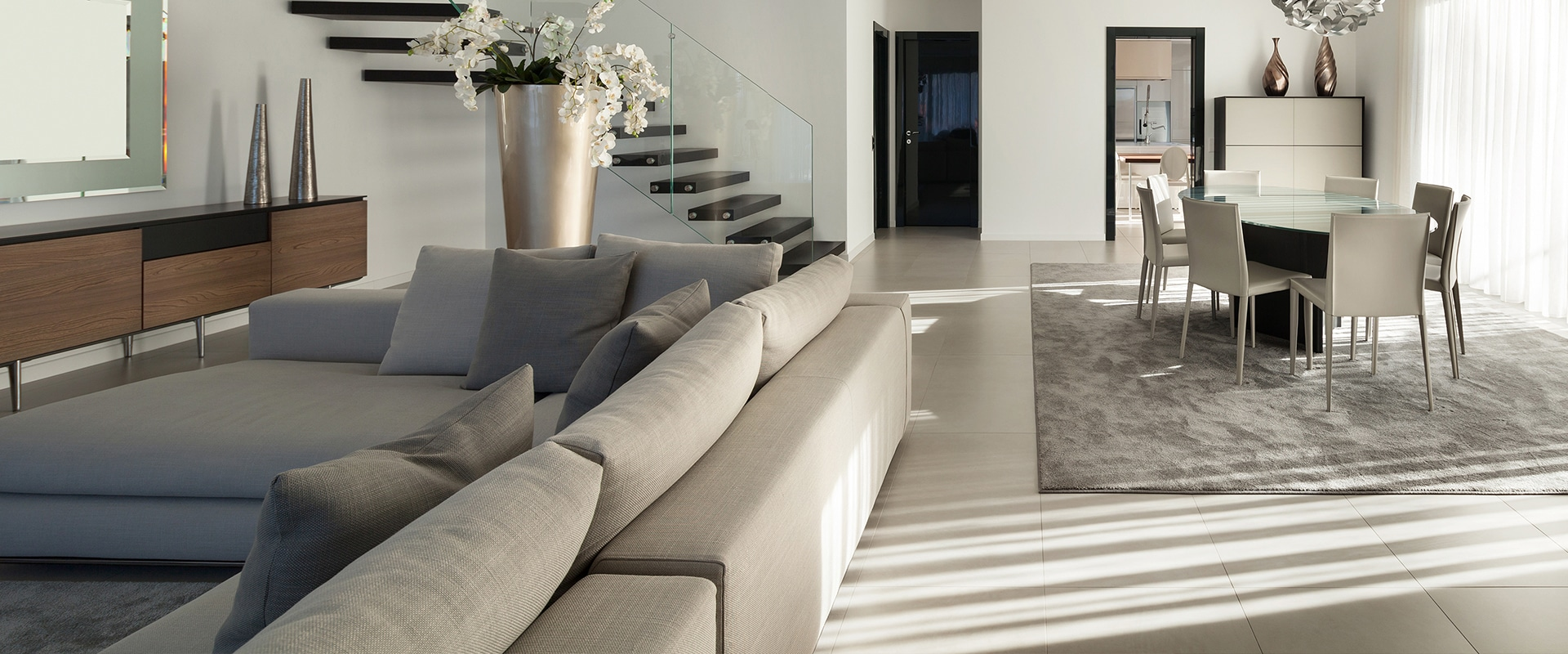 living and dining room modern style